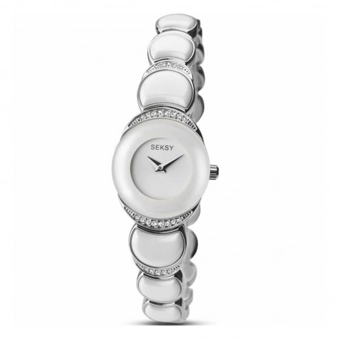 Ladies' S/Steel Stone Set Watch 2307