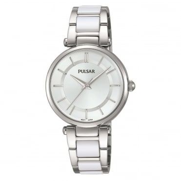 Ladies' S/Steel & White Ceramic Watch PH8191X1