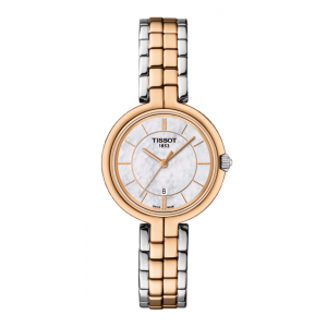 a0555f68afaa Tissot Ladies  Stainless Steel Rose Gold Plated Flamingo Watch  T0942102211100