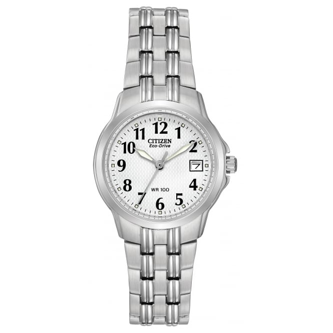 Ladies' Stainless Steel Stone Set Watch EW1540-54A
