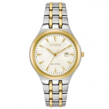 Ladies' Two Tone Eco-Drive Corso Watch EW2494-54A