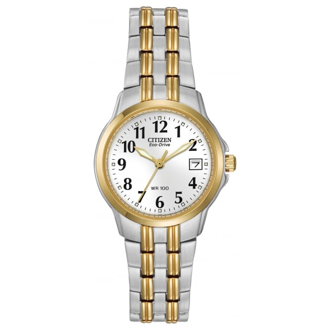 Citizen Ladies Two Tone Eco-Drive Watch EW1544-53A
