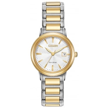 Ladies' Two Tone Eco-Drive Watch EW2374-56A