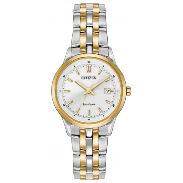Ladies' Two Tone Eco-Drive Watch EW2404-57A