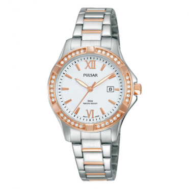 Ladies' Two Tone Stone Set Watch PH7410X1