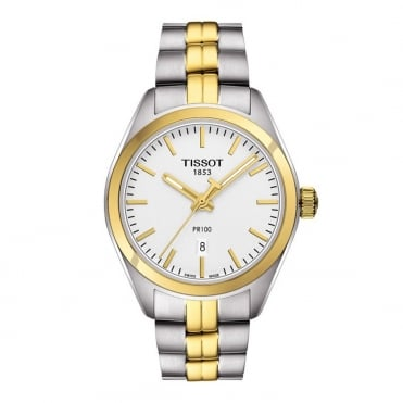 Tissot Ladies Two Tone T-Classic PR100 Watch T1012102203100