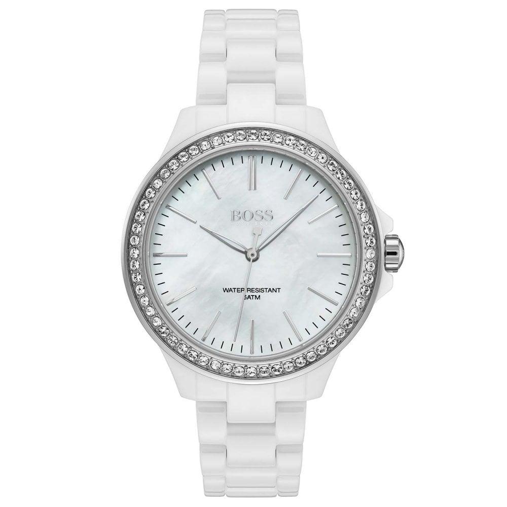 ebaeff29 Ladies' White Ceramic Victoria Watch 1502454 - Watches from Hillier ...