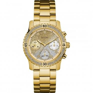 Laides' Gold Plated Confetti Watch W0774L5