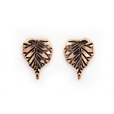 Leaf Gold Plated Earrings CRET0405AR
