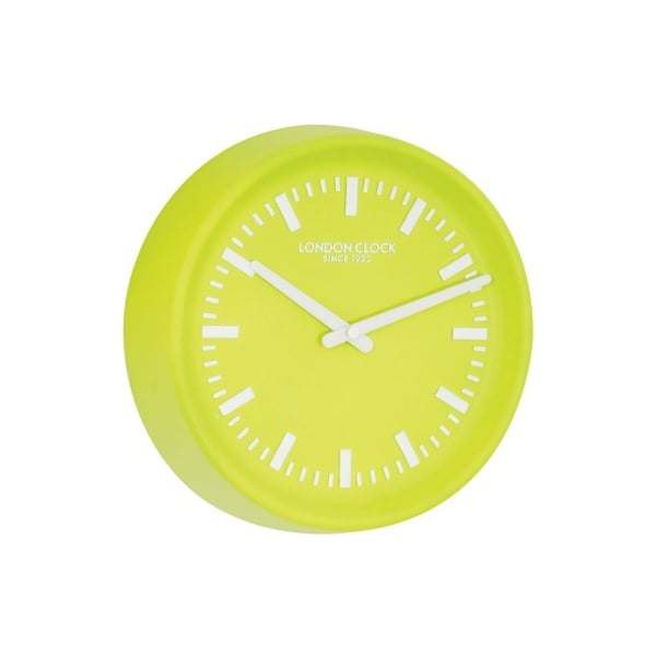 Hillier jewellers london clock lime green resin wall clock for Green wall clocks uk