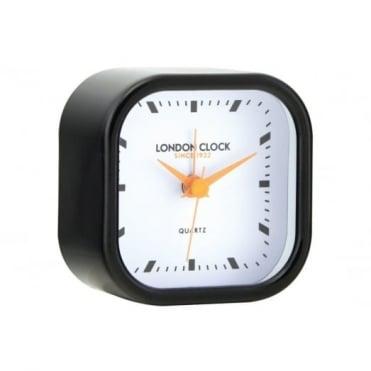 London Clock Company Black Retro Sweeping Alarm Clock 34394