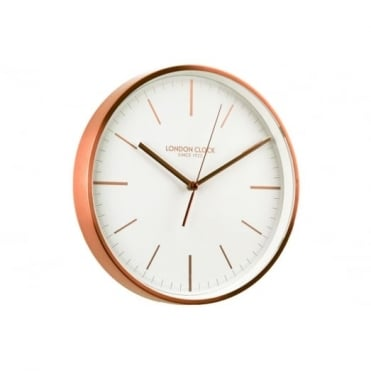 London Clock Company Brushed Copper Finish Wall Clock 01102