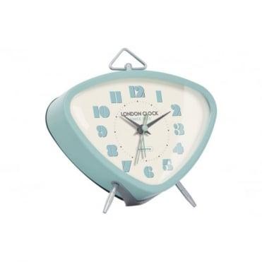 London Clock Company Light Blue Retro Alarm Clock 34366
