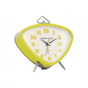 London Clock Company Yellow Retro Alarm Clock 34365