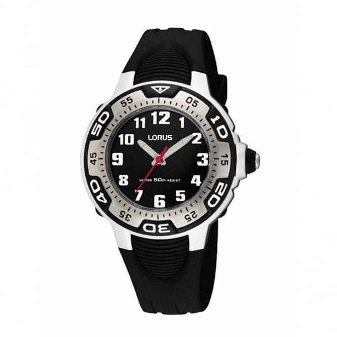 Black Rubber Strap Watch RG233GX9