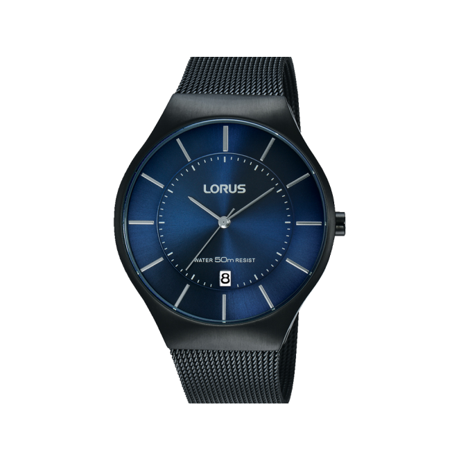 Lorus Gent's Black ion Plate Watch RS985BX9