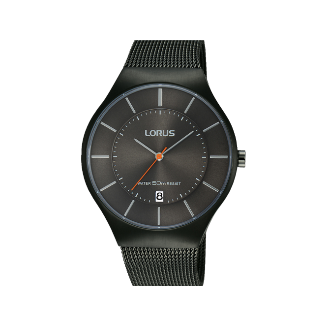 Lorus Gent's Black ion Plate Watch RS987BX9