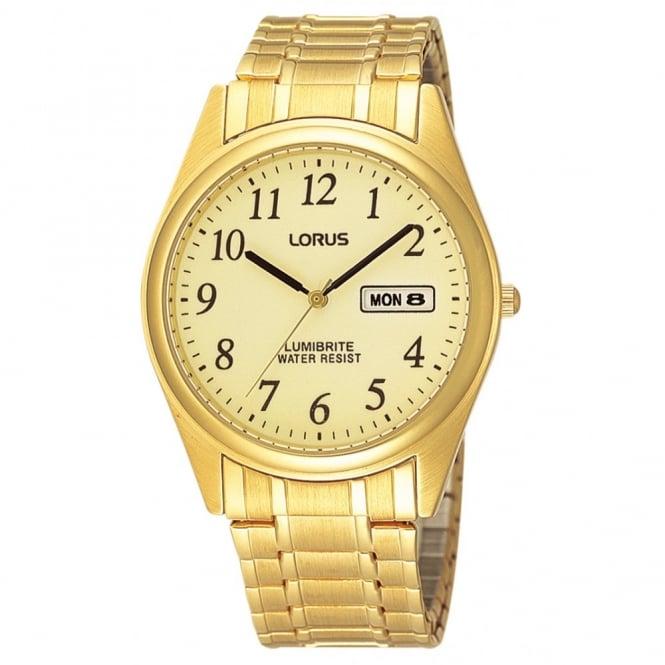 Lorus Gent's Gold Plate Expanding Watch RXN98AX9