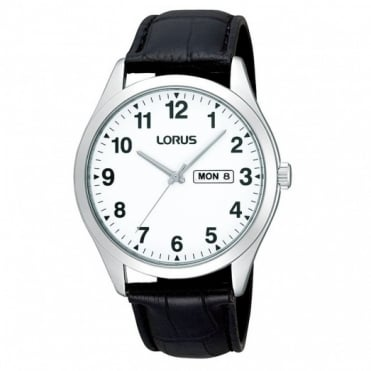 Lorus Gent's S/Steel Leather Strap Watch RJ643AX9