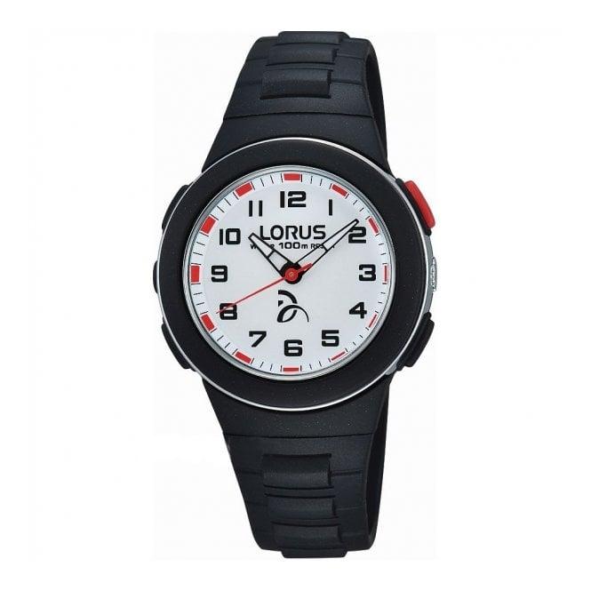Lorus Kids Kid's Black Plastic Watch R2365KX9