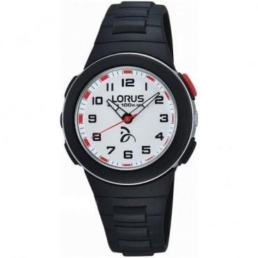Lorus Kid's Black Plastic Watch R2365KX9