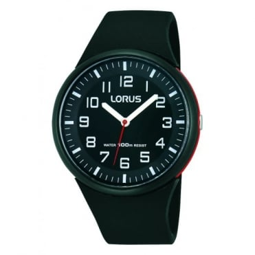 Lorus Kids Kids Black Silicone Watch RRX47DX9