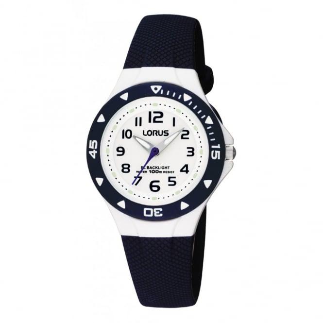 Lorus Kids Kids Blue Silicone Illuminator Watch RRX43CX9