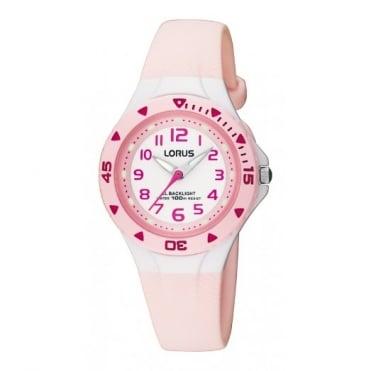 Lorus Kids Kids Pink Illuminator Watch RRX49CX9