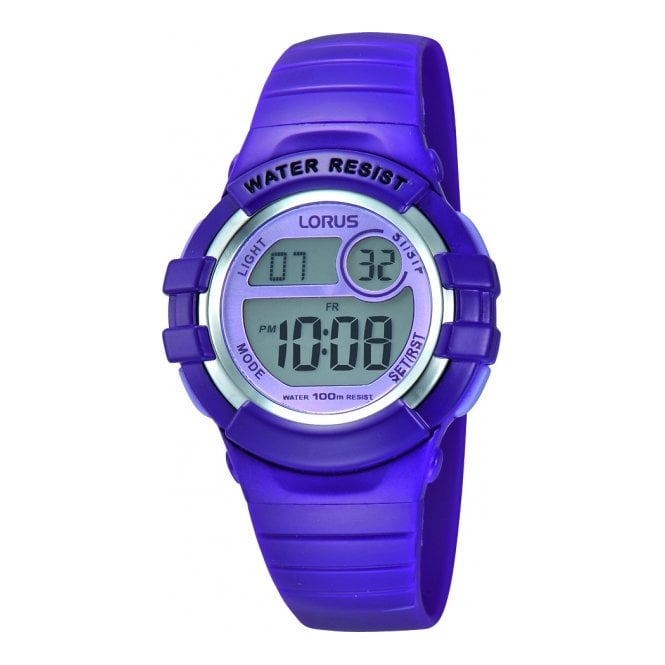 Lorus Kids Kids Purple Digital Watch R2385HX9