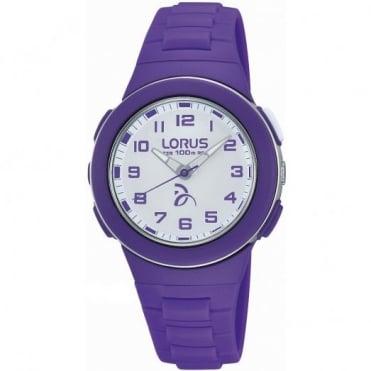 Lorus Kid's Purple Plastic Watch R2371KX9