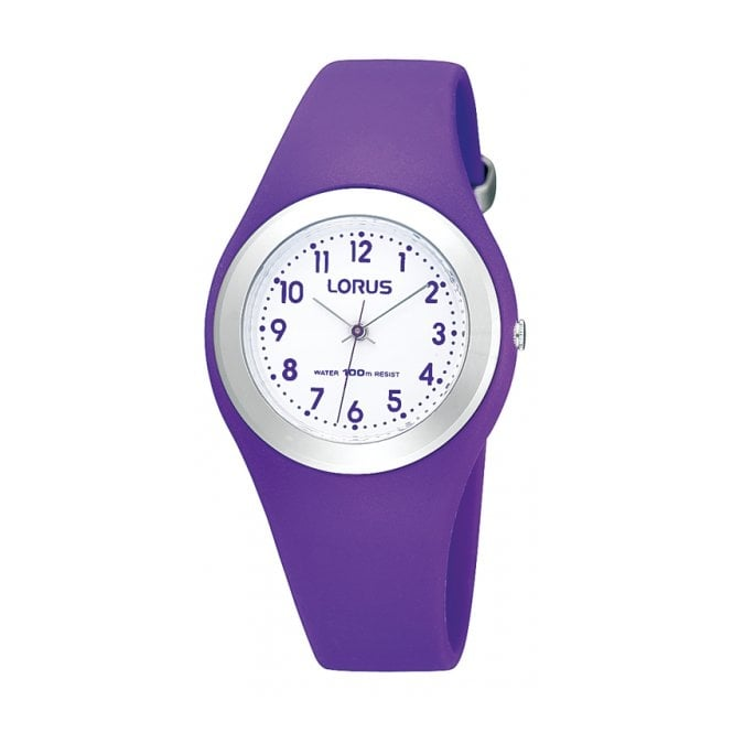 Lorus Kids Kids Purple Silicone Watch R2305GX9