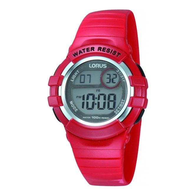 Lorus Kids Kids Red Digital Alarm Watch R2399HX9