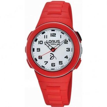 Lorus Kid's Red Plastic Watch R2369KX9