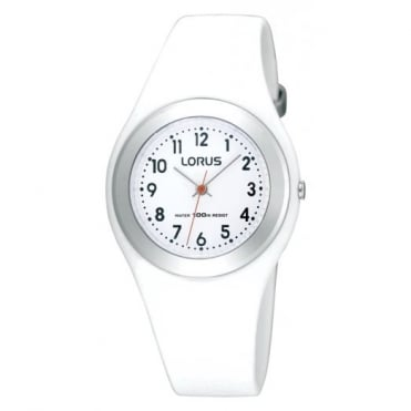 Lorus Kids Kids White Silicone Watch R2399FX9