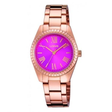 Lorus Ladies' Rose Gold Plate Watch RG230KX9