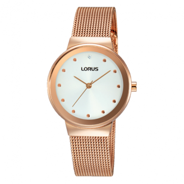 Lorus Ladies' Rose Gold Plate Watch RG266JX9