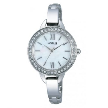 Lorus Ladies S/Steel Just Sparkle Watch RRS21VX9