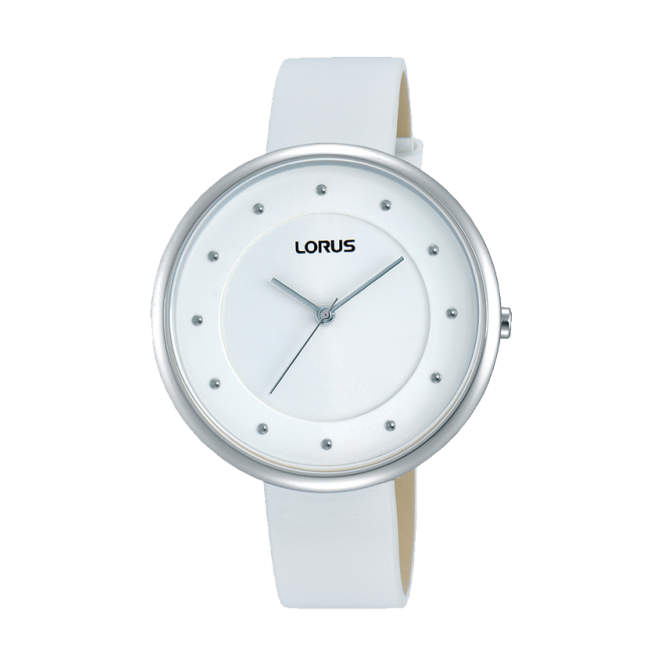 Ladies' Stainless White Leather Watch RG295JX9