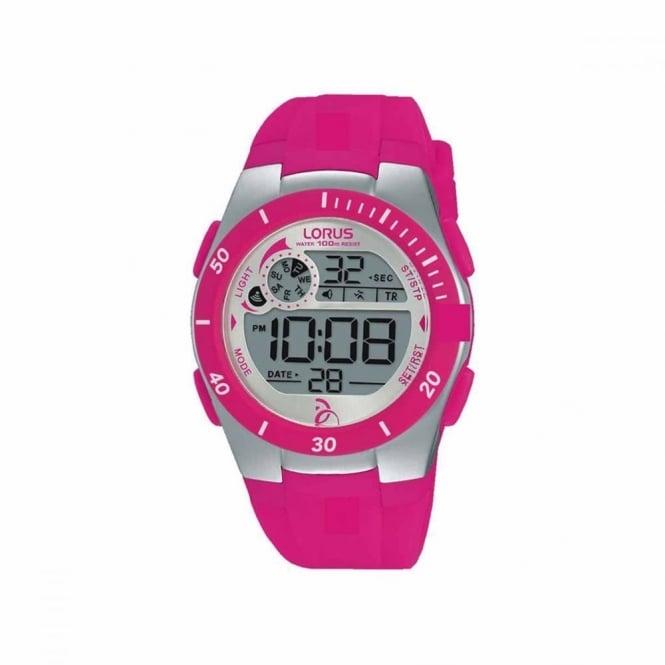 Lorus Kids Pink Digital Watch R2383KX9