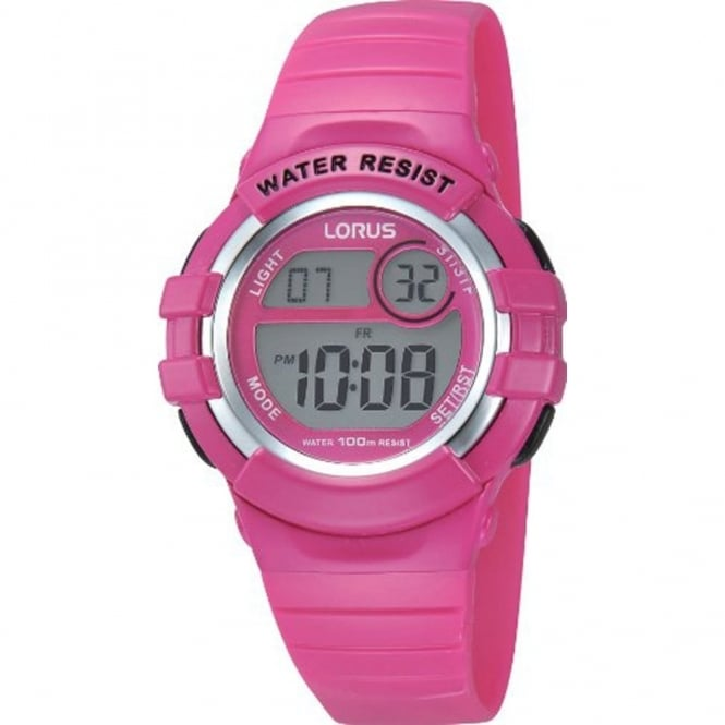 Lorus Kids Pink Digital Watch R2387HX9