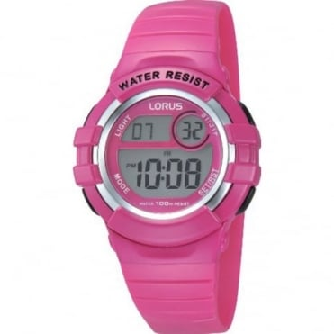 Lorus Kids Pink Digital Watch R2387HX9
