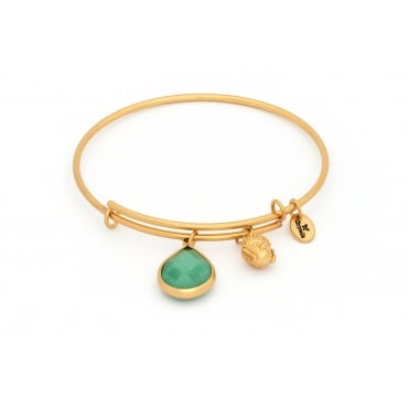 May Gold Plated Lunar Bangle CRBT2105GP