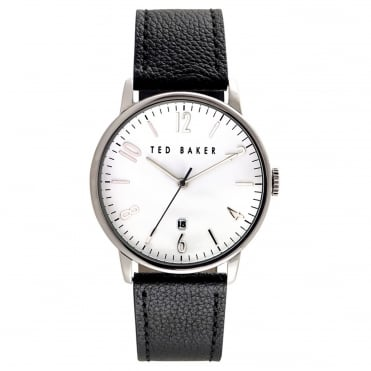 Men's Black Leather Daniel Watch TE10030650