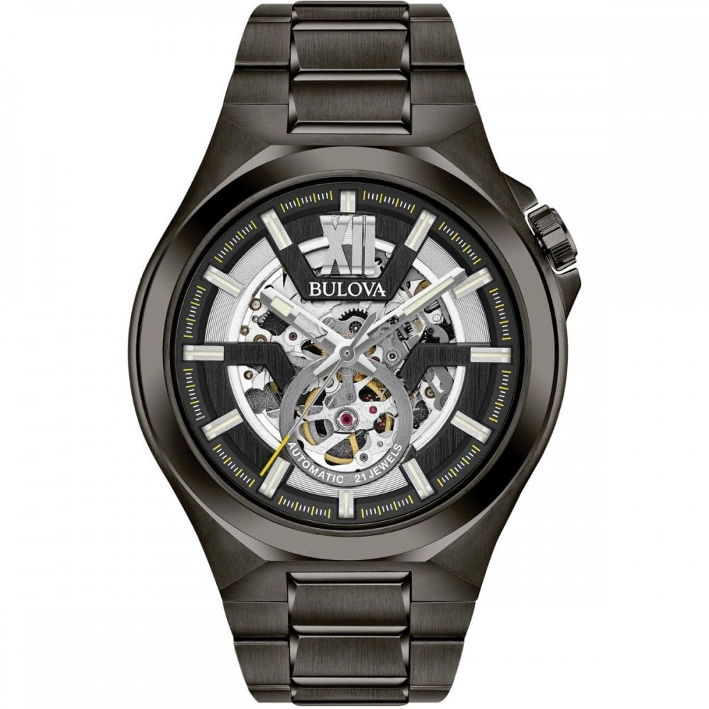 72647f8a5 Men's Black PVD Automatic Watch 98A179 - Watches from Hillier ...