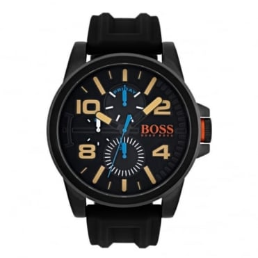 Men's Black PVD Black Rubber Detroit Watch 1550011