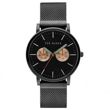 Men's Black PVD Multi Dial Watch TE10031186