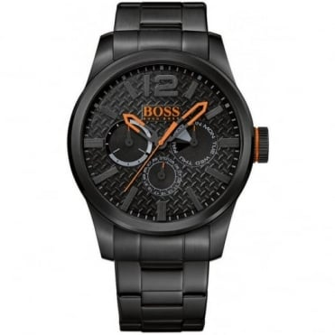 Men's Black PVD Plated Steel Watch 1513239
