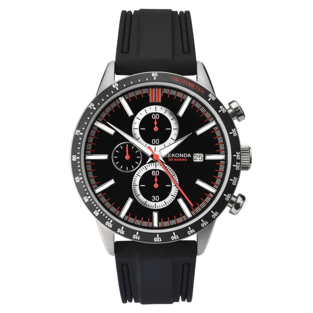 8c25ffa95dd9 Men s Black Rubber Chronograph Watch 1594 - Mens Watches from ...
