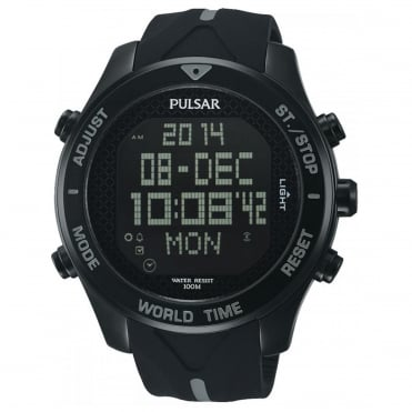 Men's Black Rubber Digital Watch PQ2041X1