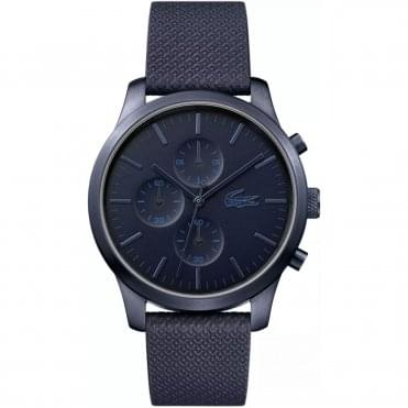 Men's Blue Fabric Chronograph 12:12 Watch